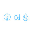 hygrometer humidity line icons vector image vector image