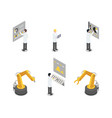 industrial machinery engineers and equipment set vector image vector image