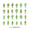 Isometric color tree set to create a vector image vector image