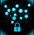 it security concept vector image vector image