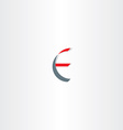 letter e sign logo icon logotype vector image vector image