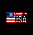 made in united states america logo vector image