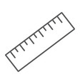 measure tool thin line icon tools and design vector image vector image