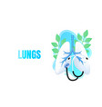 medical banner lungs alternative treatment vector image vector image