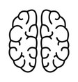 mind brain icon outline style vector image vector image