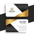minimal premium golden business card template vector image vector image