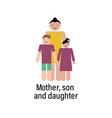 mother son and daughter icon can be used for web vector image
