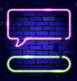 neon frames signboards vector image