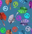 No war seamless pattern hippie background world vector image