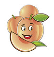 peach cute characters set in cartoon style vector image