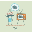 person feels the same way as TV vector image vector image