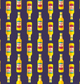 pop art beer bottle seamless pattern vector image