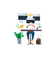 programmer at work concept vector image