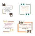 quote box text template block quotation design vector image
