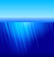 Rays of sun underwater vector image vector image