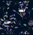 realistic isolated seamless flower pattern vector image vector image