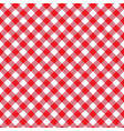 red seamless table cloth texture diagonal lines vector image