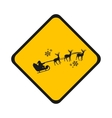 road sign Santa vector image vector image