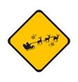road sign Santa vector image vector image