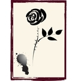 roses image ink vector image vector image