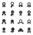 Rosette icons vector image vector image