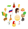 russia isometric 3d icons vector image vector image