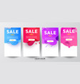 sale banner special offer discounts up to 50 off vector image vector image