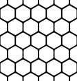 seamless pattern consists of a honeycomb vector image vector image