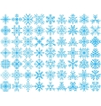 Set of 63 snowflakes vector image vector image