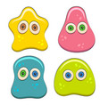 set of color with jelly characters vector image