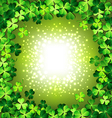 Shamrock frame for St Patricks day card vector image vector image