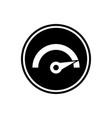 speedometer icon speed round glyph icon vector image