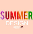 summer background with ladybug watercolor effect vector image