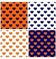 Tile dark navy blue white and orange background vector image