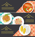 tradition thai food banner vector image