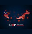 virus around malaysia vector image