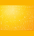 white lines with dots yellow background vector image