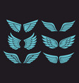 wings holy spirit vector image vector image