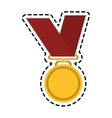 winner medal icon vector image vector image