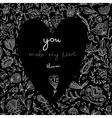 you make my heart bloom black card vector image