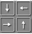 arrows buttons keyboard vector image