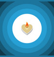 flat icon passion set of candle objects vector image