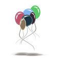 balloons party birthday isolated background vector image