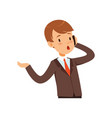cute businessman character boy in a business suit vector image