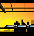 scene of cityscape vector image
