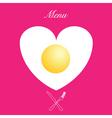 valentines menu print vector image