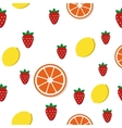 Breakfast food and drinks pattern vector image