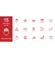 15 decoration icons vector image vector image
