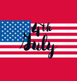 4th july day vector image vector image