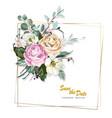 beautiful wedding card vector image
